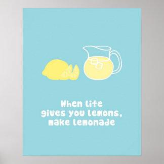 When Life gives you lemons, make lemonade Poster