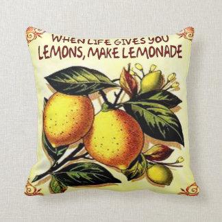 when life gives you lemons make lemonade throw pillow