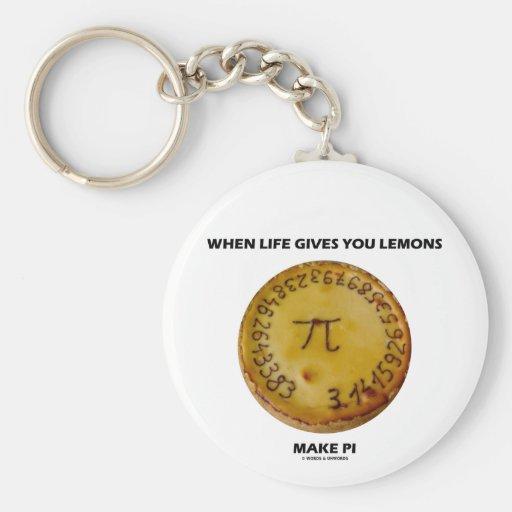 When Life Gives You Lemons Make Pi (Pie Humor) Key Chains