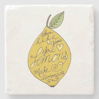When Life Gives you Lemons Stone Coaster