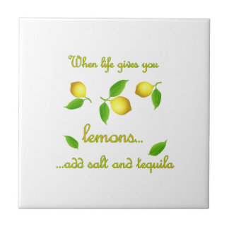 When life gives you lemons tile