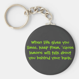 When life gives you limes keychain