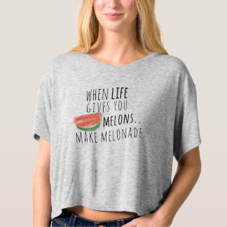 When life gives you melons make melonade boxy crop t-shirt