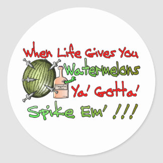 When Life Gives You Watermelons Classic Round Sticker