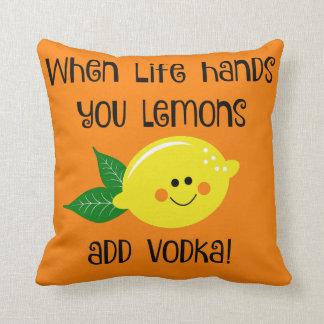 When Life Hands You Lemons Throw Pillow