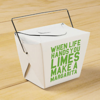 When Life Hands you Limes Make a Margarita Favor Box