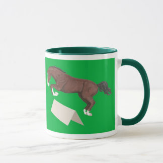 When Life is Tough Keep on Jumping Horse Mug