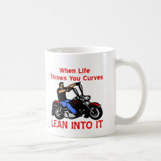 When Life Throws You Curves Lean Into It Coffee Mug
