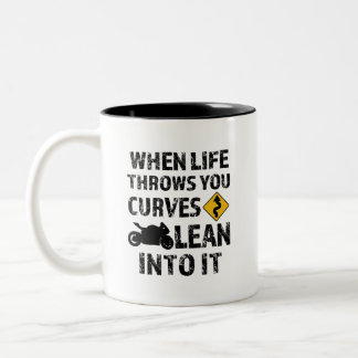 When life throws you curves motorcycle mens mug
