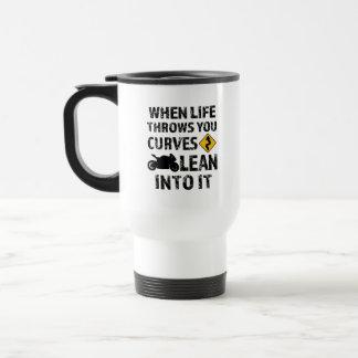 When life throws you curves motorcycle mens mug