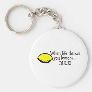 When Life Throws You Lemons Duck Lemon Key Chain