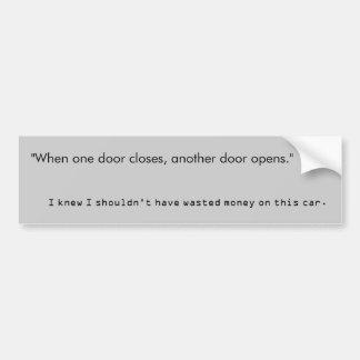 when one door shuts another opens essay