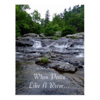 When Peace Like A River... Postcard