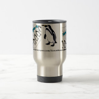 When Penguins Fly - Band 15 Oz Stainless Steel Travel Mug
