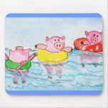 When Piglets Float  - Swimming Pigs Mouse Mats
