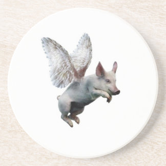 When Pigs Fly Beverage Coasters
