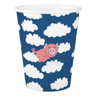 When pigs fly flying pig paper cup