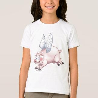 When Pigs fly Girls ringer shirt