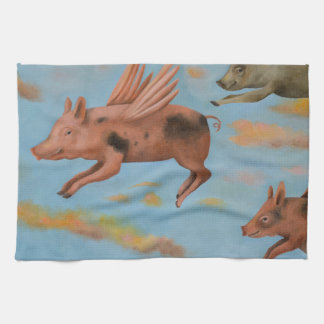 When Pigs Fly Kitchen Towel