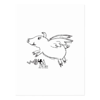 When Pigs Fly Miracles Happen Believe Flying Gifts Postcard