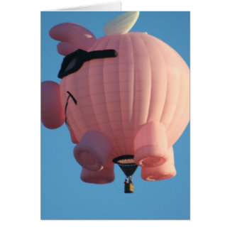 When Pigs Fly Note Card