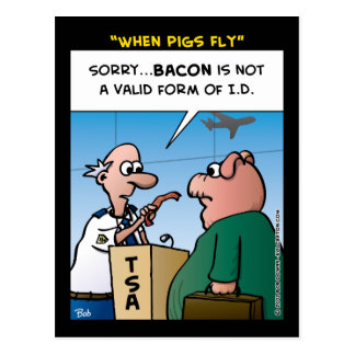 """""""When Pigs Fly"""" Postcard"""