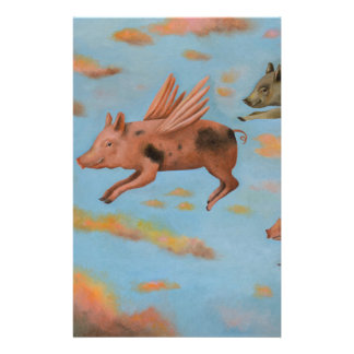 When Pigs Fly Stationery Design