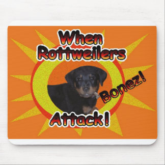 When Rottweilers Attack Bones Mouse Pad