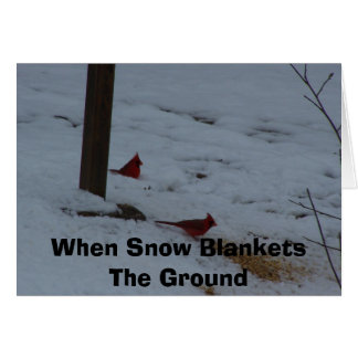 When Snow Blankets The Ground Card