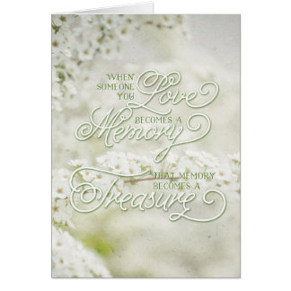 When Someone You Love Becomes a Treasured Memory Greeting Card