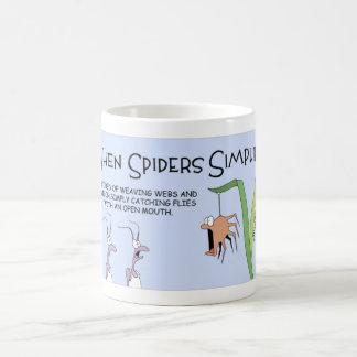When spiders simplify coffee mug