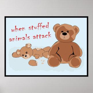 when stuffed animals attack print