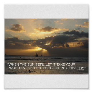 When the sun sets... poster