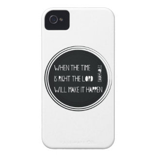 When The Time is Right iPhone 4 Case
