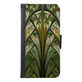 When the West Wind Blows Green Abstract Samsung Galaxy S6 Wallet Case