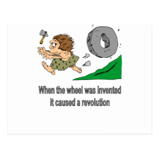 When the wheel was invented postcard