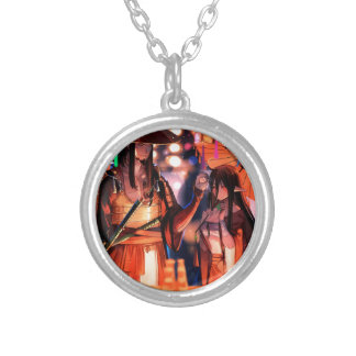 When Warriors Turn To Lovers Silver Plated Necklace