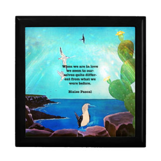 When We Are In Love Inspirational Quote Gift Box
