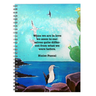 When We Are In Love Inspirational Quote Note Book