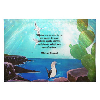 When We Are In Love Inspirational Quote Placemat