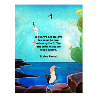 When We Are In Love Inspirational Quote Postcard