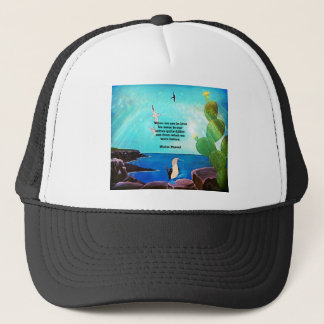 When We Are In Love Inspirational Quote Trucker Hat