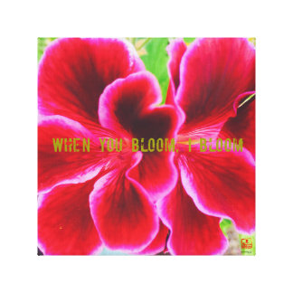 WHEN YOU BLOOM and I BLOOM | SHOICHI DESIGN TOKYO Canvas Print