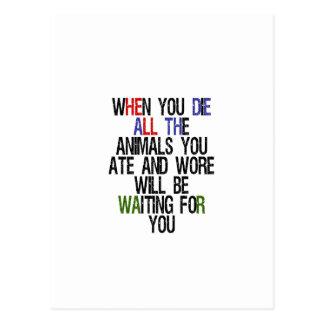 When You Die 1 Postcard