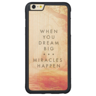 When You Dream Carved® Maple iPhone 6 Plus Bumper Case