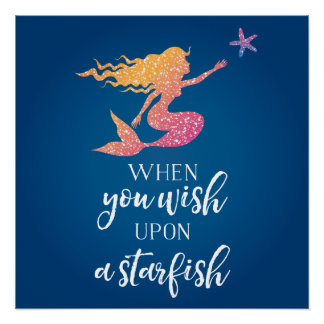 When you wish upon a starfish perfect poster
