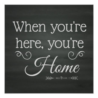 When You're Here, You're Home - Foster Care Poster