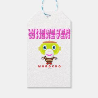 Whenever Wherever-Cute Monkey-Morocko Gift Tags