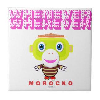 Whenever Wherever-Cute Monkey-Morocko Tile