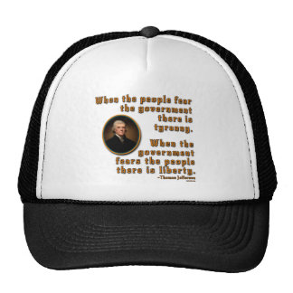 WhenPeopleFear21x21 orange Trucker Hat